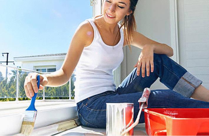Nettoyer un parquet peint