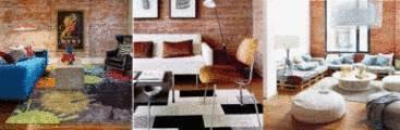 Mur en brique tout pratique - Mur de brique dans un salon ...