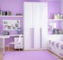 Rideau de salle a manger de couleur violet for Peindre un mur de couleur dans une chambre