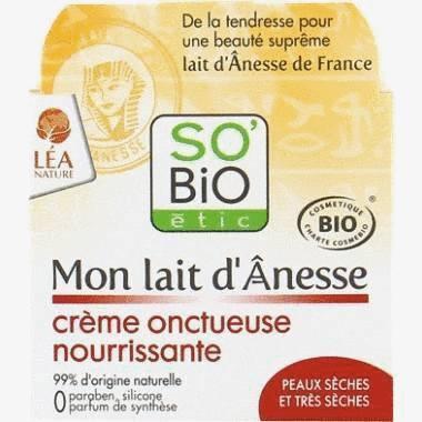Crème onctueuse nourrissante au lait d'ânesse bio -Soin peau sèche et sensible