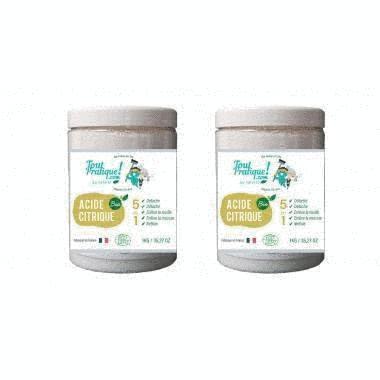 Acide citrique Toutpratique - pot de 1 Kg - Qualité supérieure - Bio -Naturel -Français