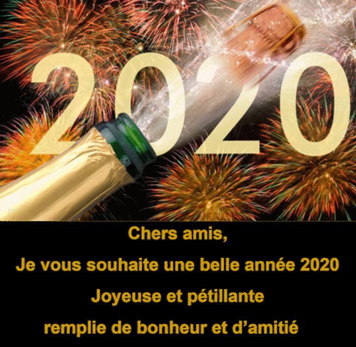carte et texte gratuit voeux 2020