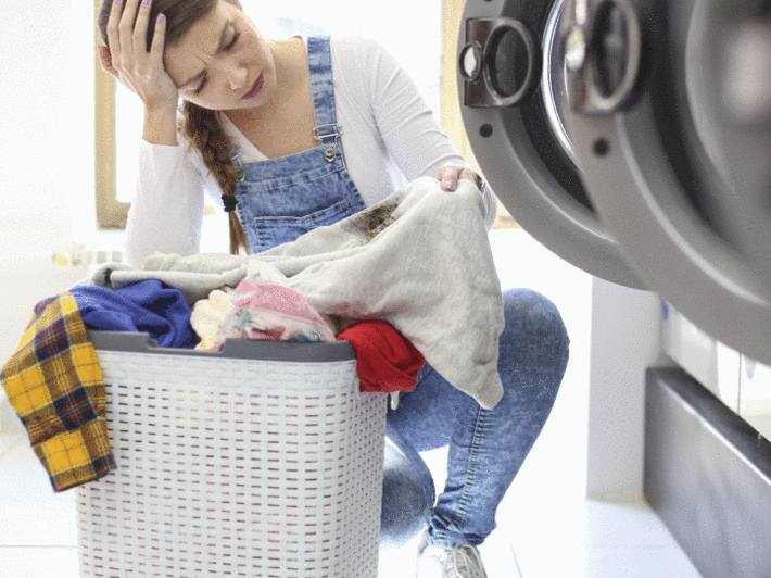 comment nettoyer une tache après un lavage machine