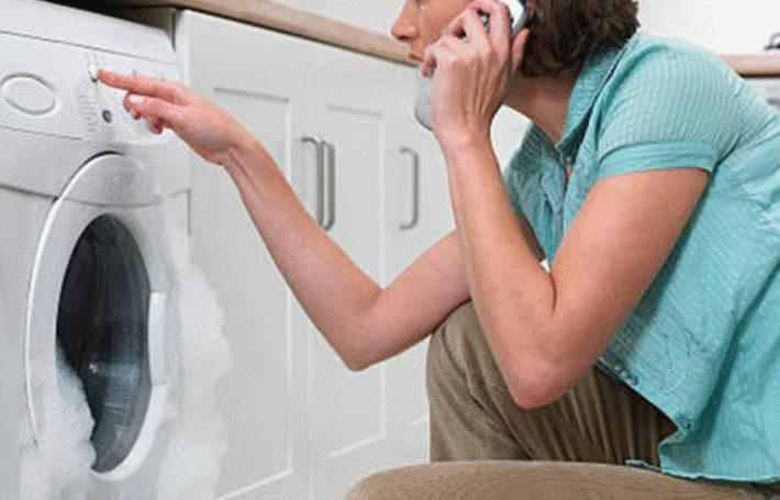 mousse deborde lave-linge que faire