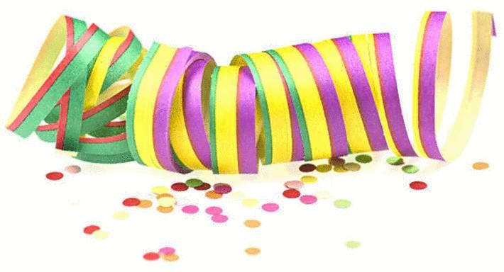 cotillon : serpentin et confettis