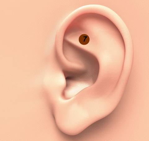 contre le stress masser l'oreille avec un coton-tige
