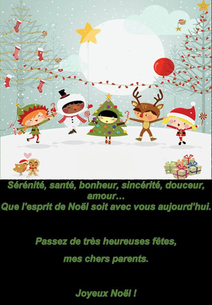 Texte Et Carte Noel N 1
