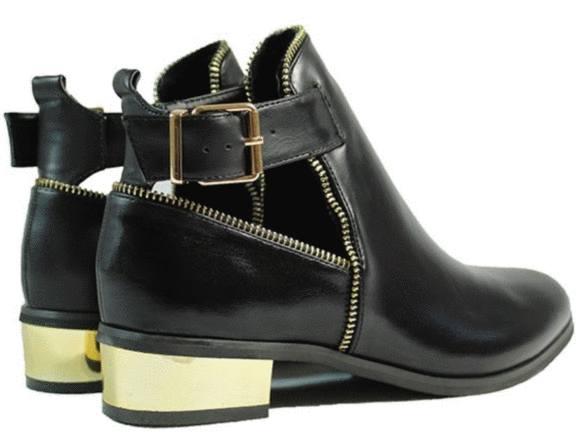 chaussure pas cher talon doré