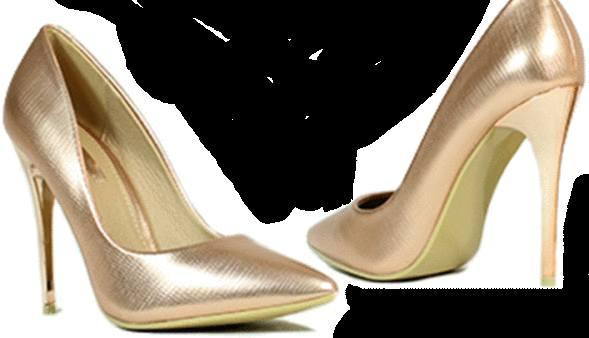 chaussures escarpins dorés