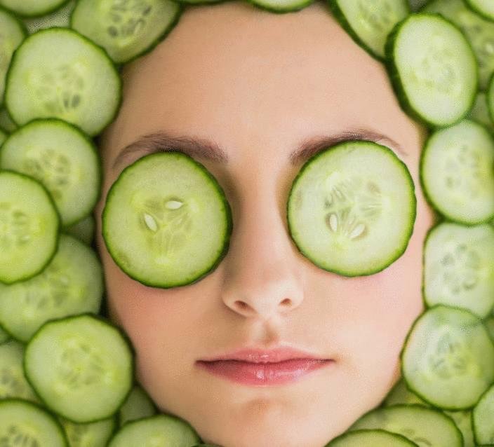 masque de beauté au concombre