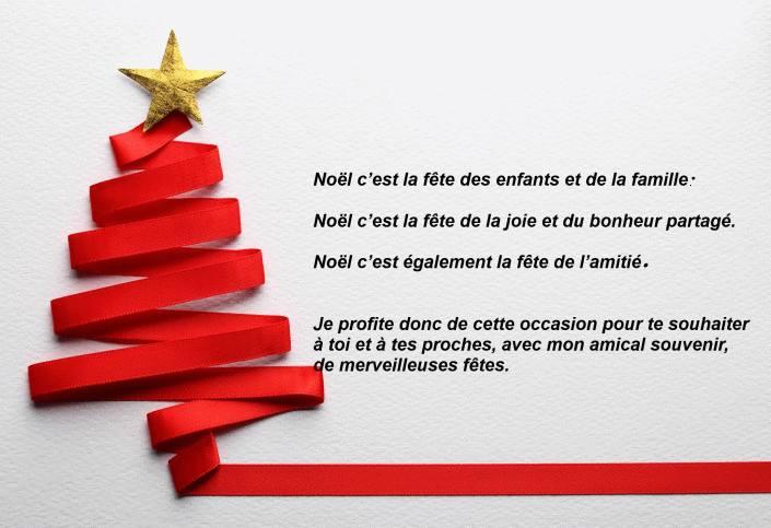 message pour noel