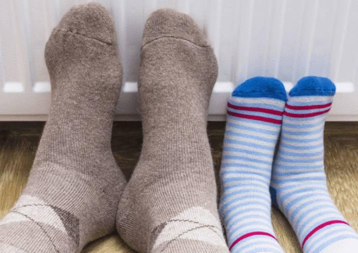 les pieds geles