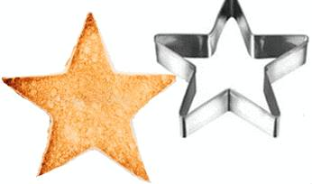 toast en forme d'étoile pour la poutargue