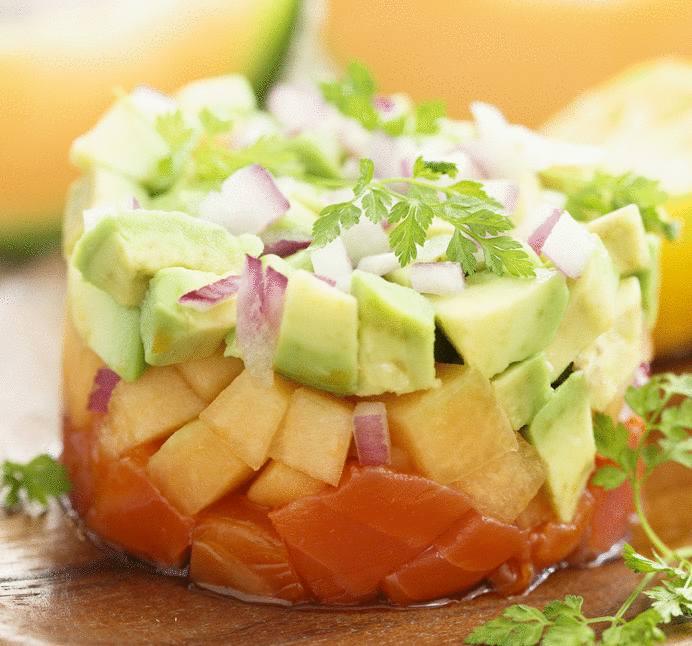 servir le saumon en verrine