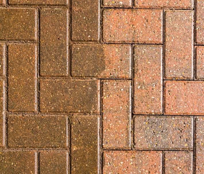 sol-en-pierre-marron-avec-une-moitié-sale-et-une-moitié-propre
