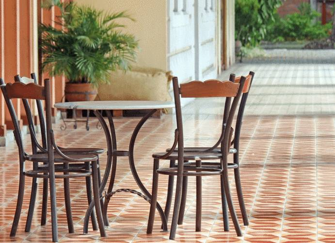 terrasse en carreaux de ciment kk78 jornalagora. Black Bedroom Furniture Sets. Home Design Ideas