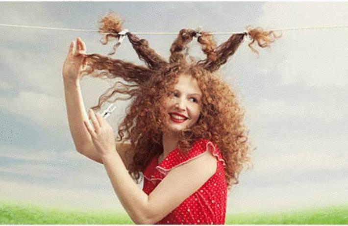 Les cheveux secs