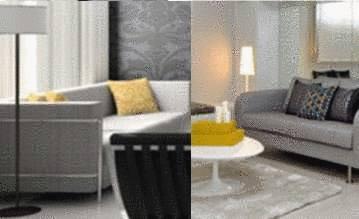 Salon Gris Moderne