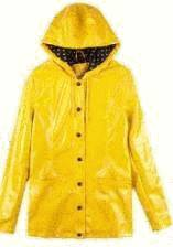 Veste cire jaune femme
