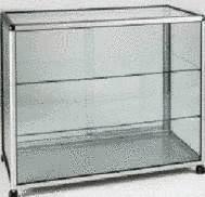 meuble metal vitre